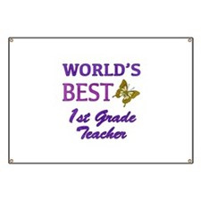 World's Best 1st Grade Teacher Banner
