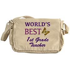 World's Best 1st Grade Teacher Messenger Bag