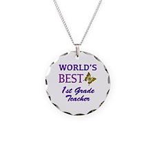 World's Best 1st Grade Teacher Necklace