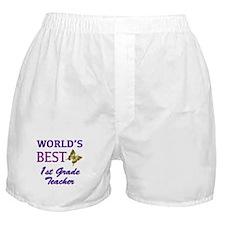 World's Best 1st Grade Teacher Boxer Shorts