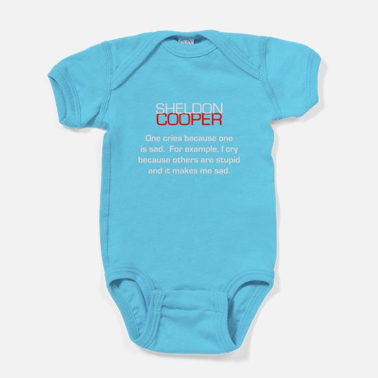 Sheldon Cooper's Reasons to Cry Baby Bodysuit