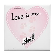 Neo Love Is Tile Coaster