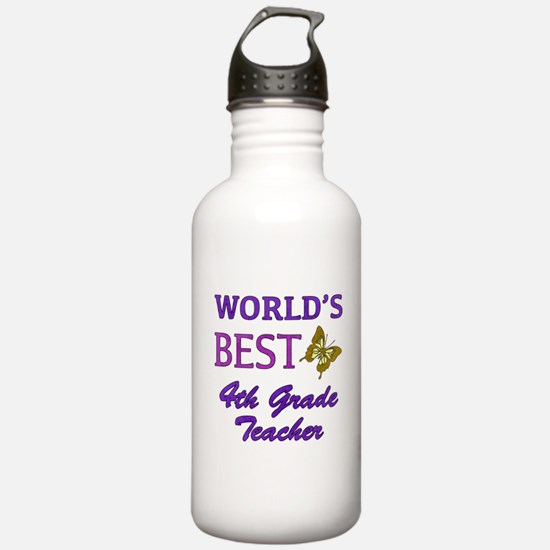 World's Best 4th Grade Teacher Sports Water Bottle