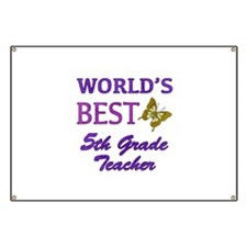 World's Best 5th Grade Teacher Banner