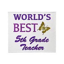 World's Best 5th Grade Teacher Throw Blanket