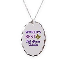 World's Best 5th Grade Teacher Necklace