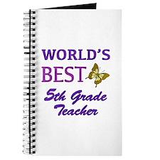 World's Best 5th Grade Teacher Journal