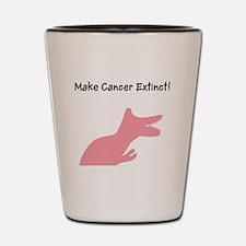 Make Cancer Extinct T-Rex Dino Shot Glass