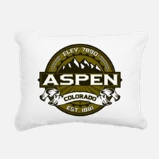 Aspen Olive Rectangular Canvas Pillow