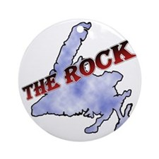The Rock with sky texture Island an Round Ornament