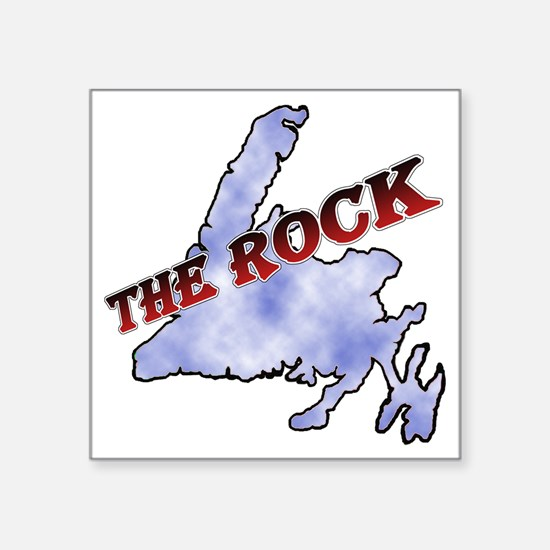 "The Rock with sky texture I Square Sticker 3"" x 3"""