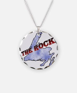 The Rock with sky texture Is Necklace