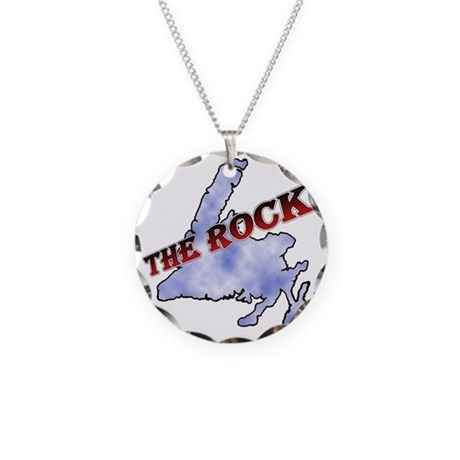 The Rock with sky texture Is Necklace Circle Charm