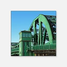 "Park Street Bridge Square Sticker 3"" x 3"""