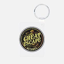 Black Gold Circle Logo Keychains