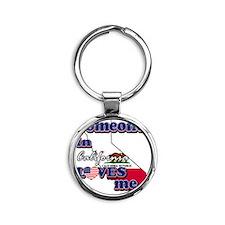 california Round Keychain