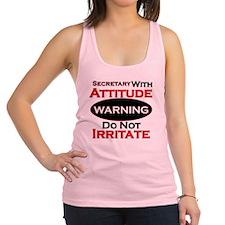 Attitude secretary  Racerback Tank Top