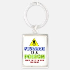 FLUORIDE IS A POISON-2 Portrait Keychain