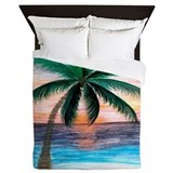 Beach tree queen duvet Bedroom Décor