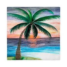 Sunset Palm Tree Queen Duvet