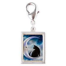 Cat 580 Silver Portrait Charm