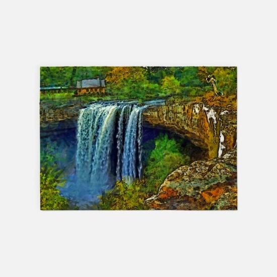 Noccalula Falls 5'x7'Area Rug