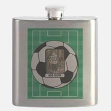 Photo and Name personalized soccer ball Flask