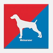 Weimaraner Diagonal Tile Coaster