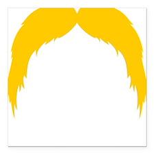 "Mustache-042-B Square Car Magnet 3"" x 3"""