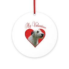 Wolfhound Valentine Ornament (Round)