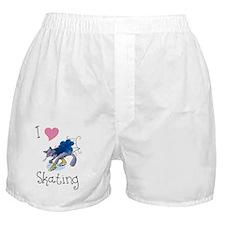 I Love Skating Kitty Boxer Shorts
