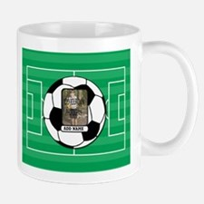 Photo and Name personalized soccer ball Mugs