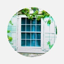 Window Shuttered With Ivy Ornament (Round)