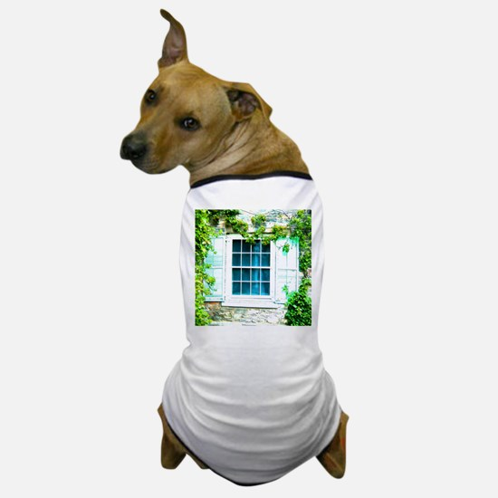 Window Shuttered With Ivy Dog T-Shirt