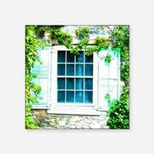 Window Shuttered With Ivy Sticker