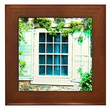 Window Shuttered With Ivy Framed Tile
