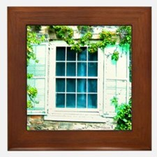Window Shuttered With Ivy Framed Tile