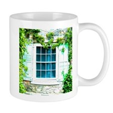 Window Shuttered With Ivy Mugs