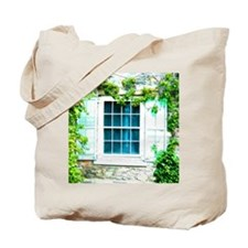 Window Shuttered With Ivy Tote Bag
