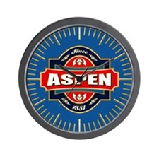 Aspen Old Label Wall Clock