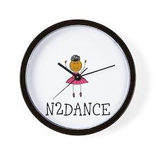 N2dance Ballerina Logo Wall Clock