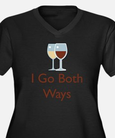 I go both wa Women's Plus Size Dark V-Neck T-Shirt