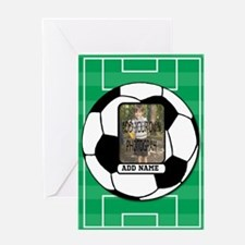 Photo and Name personalized soccer ball Greeting C