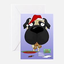 Pug Santa's Cookies Greeting Cards (Pk of 20)