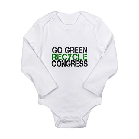 Go Green Recycle Congress Long Sleeve Infant Bodys