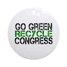 Go Green Recycle Congress Ornament (Round)