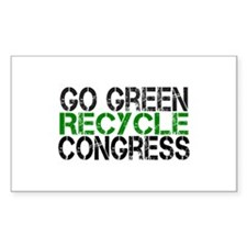 Go Green Recycle Congress Decal