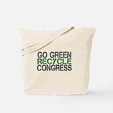 Go Green Recycle Congress Tote Bag