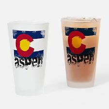 Aspen Grunge Flag Drinking Glass