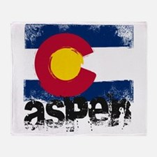 Aspen Grunge Flag Throw Blanket